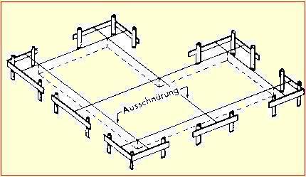 feinabsteckung f r den hochbau hcs. Black Bedroom Furniture Sets. Home Design Ideas
